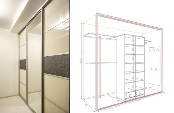 Встроенный шкаф-купе №15